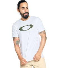 camiseta blanca-gris oakley