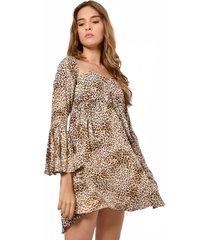 vestido animal print 679718