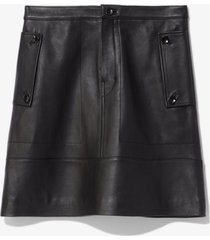 proenza schouler white label matte leather skirt black 2