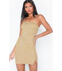 nly one glitter slit dress fodralklänningar
