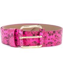b-low the belt snakeskin-effect belt - pink