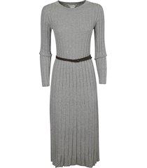 fabiana filippi belted waist pleated slim dress