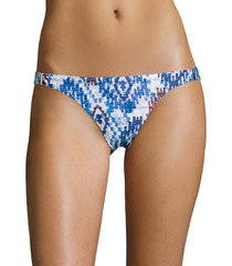 melissa odabash women's martinique bikini bottom - denim - size 8