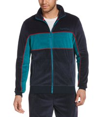 original penguin men's velour colorblock track jacket