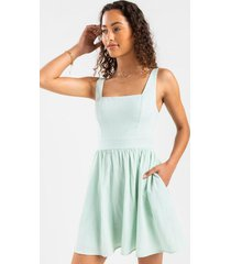 sandy flare mini dress - mint