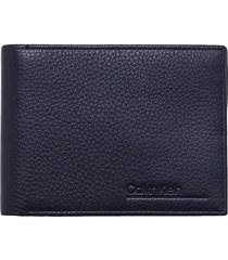 calvin klein billfold navy blue wallet
