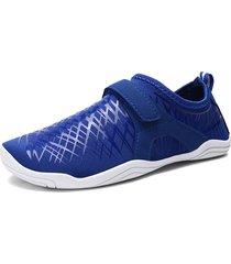 scarpe da ginnastica da uomo in tessuto elastico antiscivolo, gancio, scarpe da ginnastica ad acqua