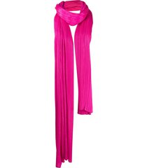 pleats please issey miyake pleated oversized scarf - pink