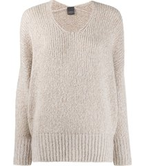 lorena antoniazzi scoop neck slouchy sweater - neutrals