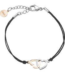 bracciale lady chic acciaio bicolore cuore per donna