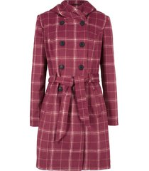 cappotto corto a quadri (viola) - bpc bonprix collection