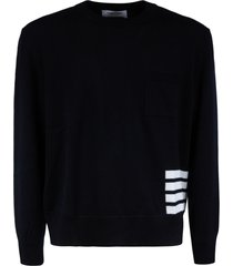 thom browne relaxed fit stitched pullover