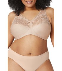 glamorise magiclift(r) moisture control bra, size 44h in brown at nordstrom