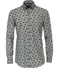 casa moda casual shirt groen print