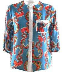 dragon print shirt