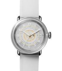 shinola detrola the middle child silicone strap watch, 43mm