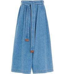 loewe cropped belt jeans