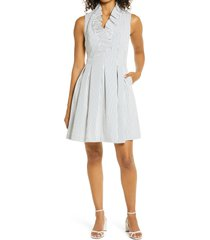 women's harper rose stripe seersucker fit & flare dress