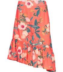 lucy skirt knälång kjol orange by malina
