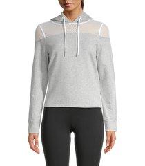 marc new york performance women's long-sleeve cotton-blend hoodie jacket - heather grey - size m