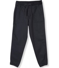 pantalon girlfriend jogger mujer negro gap