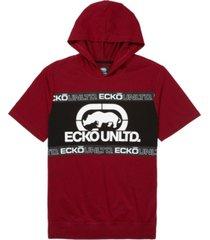 ecko unltd men's short sleeve tape hoodie