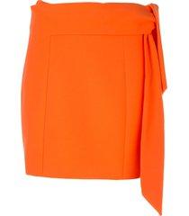 alice+olivia bow tie mini skirt - orange