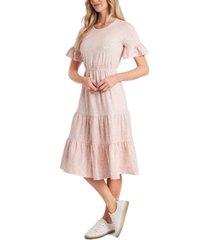 cece printed ruffled dress