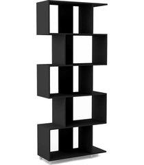 estante regular 5 nichos preto fosco - preto - dafiti