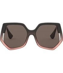 miu miu miu miu mu 07vs brown gradient transparent sunglasses