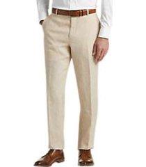 joe joseph abboud tan chambray slim fit suit separates pants