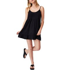 women's woven lucy strappy tiered tunic dress