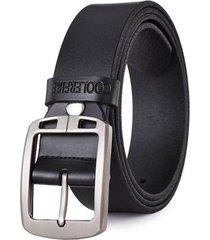 cinturon correa cuero hombres hebilla lujo vintage 125cm 021