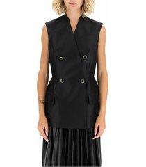 sleeveless peplum jacket