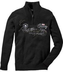 maglione con cerniera regular fit (nero) - bpc selection