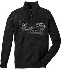 pullover con cerniera regular fit (nero) - bpc selection
