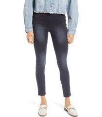 plus size women's hue az ultrasoft denim leggings, size 3 x - black