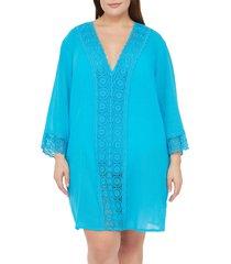 plus size women's la blanca island fare cover-up tunic