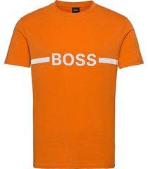 t-shirt rn slim fit t-shirts short-sleeved orange boss
