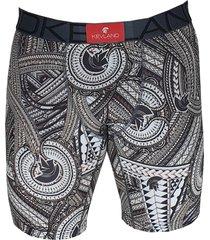 cueca boxer long leg kevland samoan preto - preto - masculino - dafiti