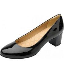 zapato nany taco bajo color negro flexi