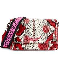 lolita mini snakeskin-embossed leather crossbody bag