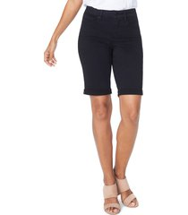 women's nydj briella roll cuff bermuda shorts, size 18 - white