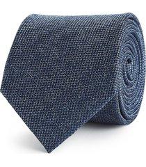 reiss ceremony - textured silk tie in indigo, mens