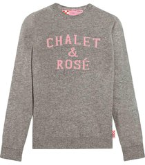 chalet & rosè grey womans sweater