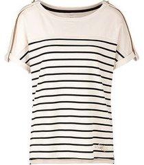 marc cain striped t-shirt ecru