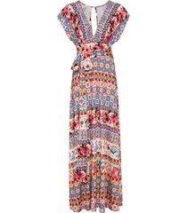 abito lungo con fiocco (fucsia) - bodyflirt boutique