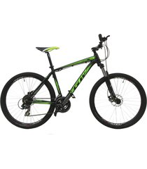 bicicletas todo terreno gw alligator  rin 27.5 shimano 7v tipo moto suspe disc negro verde