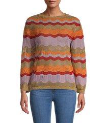 m missoni women's metallic patterned sweater - size 40 (4)