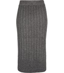 women's halogen ribbed sweater skirt, size xx-large - grey